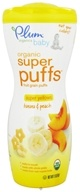 Plum Organics - Baby Organic Super Puffs Super Yellows Banana & Peach - 1.5 oz.