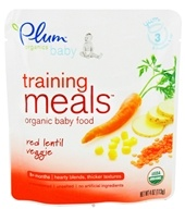 Plum Organics - Organic Baby Food Training Meals 8+ Months Red Lentil Veggie - 4 oz.