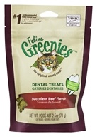 Greenies - Feline Dental Treats Succulent Beef - 2.5 oz.