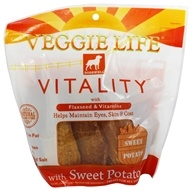 Image of Dogswell - Veggie Life Vitality With Flaxseed & Vitamins Sweet Potato Jerky - 15 oz.