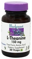 Image of Bluebonnet Nutrition - L-Theanine 150 mg. - 30 Vegetarian Capsules