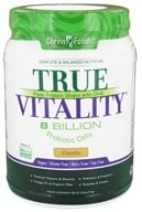 Green Foods - True Vitality Plant Protein Shake with DHA Vanilla - 25.2 oz. (083851207774)