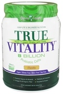 Green Foods - True Vitality Plant Protein Shake with DHA Vanilla - 25.2 oz. by Green Foods