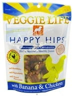 Dogswell - Veggie Life Happy Hips With Glucosamine & Chondroitin Banana & Chicken Jerky - 5 oz. CLEARANCE PRICED - $3.69