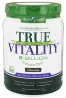 Green Foods - True Vitality Plant Protein Shake with DHA Chocolate - 25.2 oz., from category: Health Foods