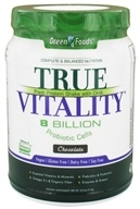 Green Foods - True Vitality Plant Protein Shake with DHA Chocolate - 25.2 oz. (083851207668)