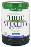 Green Foods - True Vitality Plant Protein Shake with DHA Unflavored - 22.7 oz., from category: Health Foods