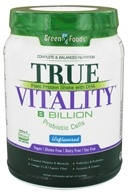 Green Foods - True Vitality Plant Protein Shake with DHA Unflavored - 22.7 oz. (083851207552)