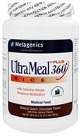 Image of Metagenics - UltraMeal Plus 360 Rice Medical Food Dutch Chocolate Flavor - 28.5 oz.