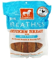 Image of Dogswell - Breathies With Mint & Parsley Chicken Breast Jerky - 32 oz.