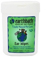 Earthbath - Ear Wipes - 25 Wipe(s) - $6.49