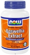 NOW Foods - Boswellia Extract Standardized Extract Double Strength 600 mg. - 90 Vegetarian Capsules, from category: Herbs