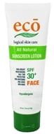 Eco Logical Skin Care - Eco Sunscreen Lotion Face All Natural 30 SPF - 1.8 oz. (013964349740)