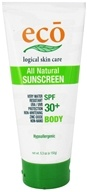 Eco Logical Skin Care - Eco Sunscreen Body All Natural 30 SPF - 5.3 oz.