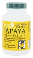Royal Tropics - The Original Green Papaya Digestive Aid - 150 Capsules (011092100264)