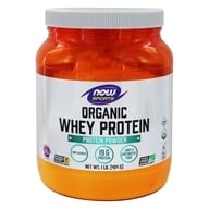 NOW Sports Organic Whey Protein Powder Unflavored - 1 lb.