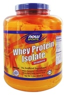 NOW Foods - Whey Protein Isolate Power Size Strawberry - 5 lbs.