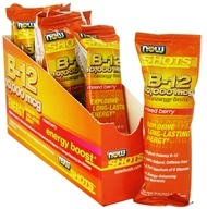 Image of NOW Foods - Shots B-12 Energy Boost 8 x .5 oz. Shots Mixed Berry 10000 mcg.