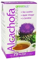 Greenside Functional Foods - Alcachofa Herbal Artichoke Tea Infusion - 25 Tea Bags