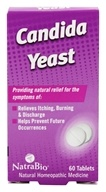 NatraBio - Candida Yeast - 60 Tablets, from category: Homeopathy