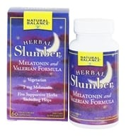 Natural Balance - Herbal Slumber Melatonin and Valerian Formula - 60 Capsules