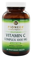 Pioneer - Vitamin C Complex Naturally Buffered 1000 mg. - 60 Vegetarian Tablets - $11