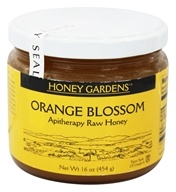Honey Gardens Apiaries - Apitherapy Raw Honey Orange Blossom - 1 lb. by Honey Gardens Apiaries