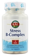 Kal - Stress B-Complex 155 mg Vitamin C with AromaSmooth Coating - 50 Tablets (021245100102)