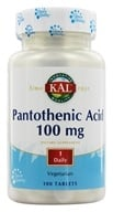 Image of Kal - Pantothenic Acid 100 mg. - 100 Vegetarian Tablets