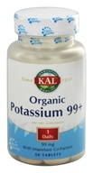 Kal - Organic Potassium 99+ with Important Co-Factors 99 mg. - 50 Vegetarian Tablets - $3.74