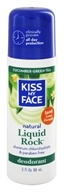 Image of Kiss My Face - Liquid Rock Roll-On Natural Deodorant Cucumber Green Tea - 3 oz.