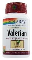 Image of Solaray - Valerian Root Extract Guaranteed Potency 50 mg. - 60 Capsules