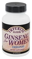 Imperial Elixir - Ginseng For Women - 50 Capsules