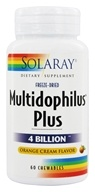 Image of Solaray - Freeze-Dried Multidophilus Plus 4 Billion Orange Cream Flavor - 60 Chewables