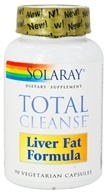 Solaray - Total Cleanse Liver Fat Formula - 90 Vegetarian Capsules (076280945225)