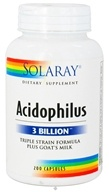 Solaray - Acidophilus Triple Strain Formula Plus Goat's Milk - 200 Capsules, from category: Nutritional Supplements