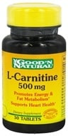 Good 'N Natural - L-Carnitine 500 mg. - 30 Tablets (074312416835)