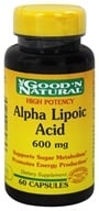Good 'N Natural - Alpha Lipoic Acid 600 mg. - 60 Capsules, from category: Nutritional Supplements