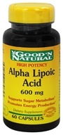 Good 'N Natural - Alpha Lipoic Acid 600 mg. - 60 Capsules by Good 'N Natural