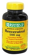 Good 'N Natural - Resveratrol 500 mg. - 60 Capsules (698138310438)