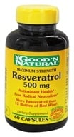 Good 'N Natural - Resveratrol 500 mg. - 60 Capsules by Good 'N Natural