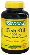 Good 'N Natural - Fish Oil 1000 mg 600 mg Total Omega-3 - 90 Softgels, from category: Nutritional Supplements