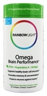 Rainbow Light - Omega Brain Performance - 60 Softgels by Rainbow Light