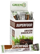 Image of Greens Plus - Organic Amazon Chocolate Stick Pack Box - 15 Stick(s)