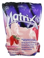 Image of Syntrax - Matrix 5.0 Sustained-Release Protein Blend Strawberry Cream - 5 lbs.