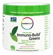 Rainbow Light - Certified Organics Immuno-Build Greens Refreshing Watermelon Flavor - 4.7 oz.