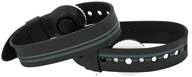 Psi Bands - Nausea Relief Acupressure Wrist Band Drug Free Racer Black - 2 Band(s)