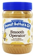 Peanut Butter & Co. - Natural Peanut Butter with Great Big Pieces of Chopped Peanuts Smooth Operator - 16 once.