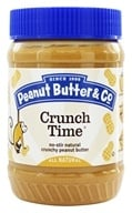 Peanut Butter & Co. - Natural Peanut Butter with Great Big Pieces of Chopped Peanuts Crunch Time - 16 oz.