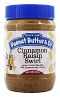 Peanut Butter & Co. - Cinnamon Raisin Swirl Peanut Butter Blended with Cinnamon and Raisins - 16 oz. (851087000038)